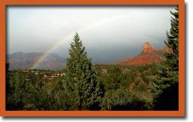 Vortex and Rainbow, Sedona Arizona